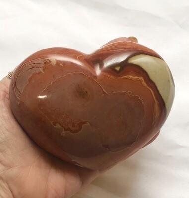 Large Desert Jasper Puffy Heart 4 1/2