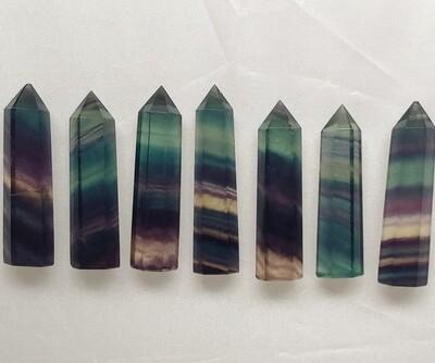 Rainbow Fluorite Point 1 3/4
