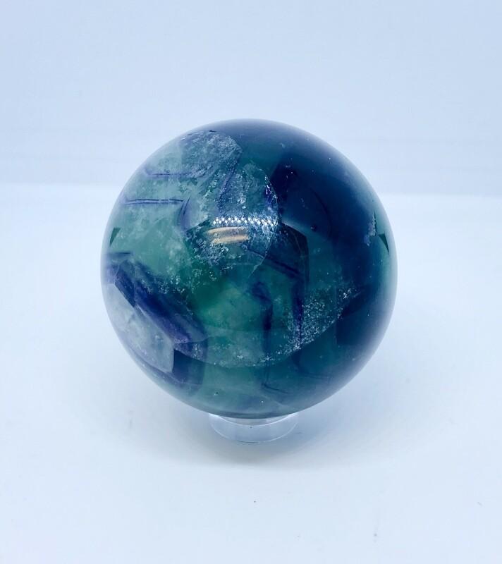 Purple and Green Fluorite Sphere 2