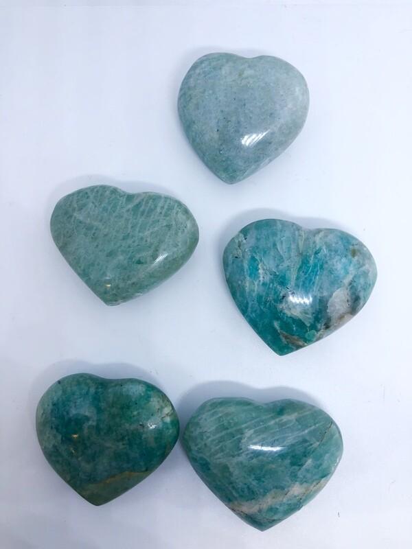 Amazonite Heart 1 3/4