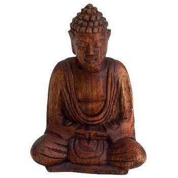 Wooden Seated Buddha