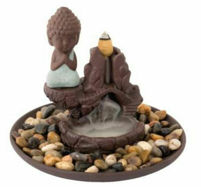 Praying Buddha Backflow Incense Cone Burner