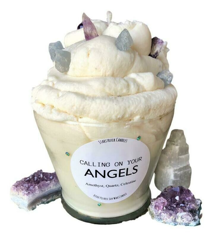 Calling on Your Angels Gemstone Candle