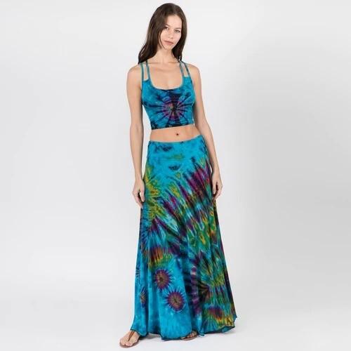 Jhada Mudmee Tie Dye Maxi Skirt