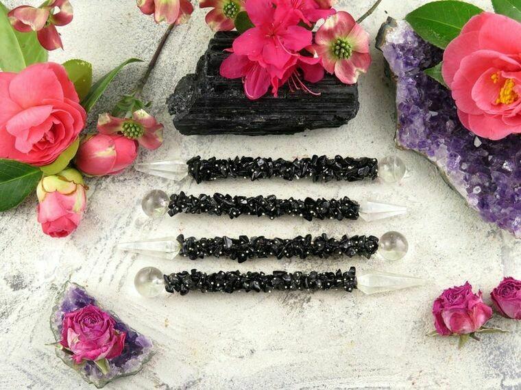 Black Tourmaline Healing Wand