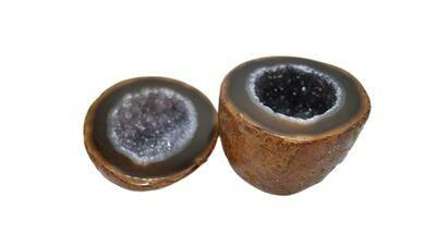 Natural Agate Druzy Treasure Box