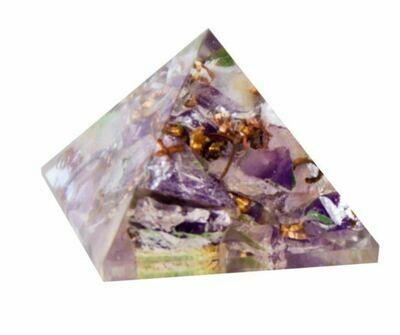 Orgone Resin Pyramid Amethyst - Crown Chakra