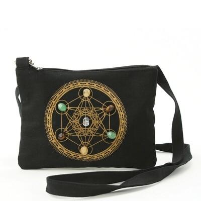 Sacred Geometry Wealth & Prosperity Crossbody Bag
