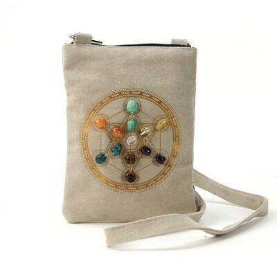 Sacred Geometry Crystal Grid Creativity Cross Body Bag