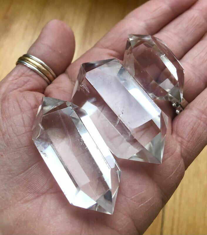 Double terminated Clear Quartz Points