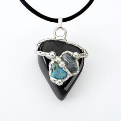 Earth Gemdrop Pendant Necklace