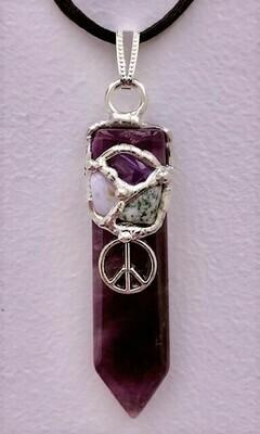 Inner Peace Gemstone Blade Pendant Necklace