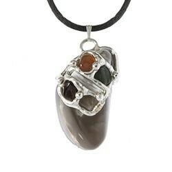 Moon Goddess Gemdrop Pendant Necklace