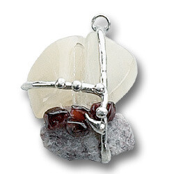 Goddess Amulet Gemstone Pendant Necklace