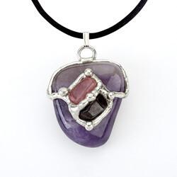 Courage Gemdrop Pendant Necklace