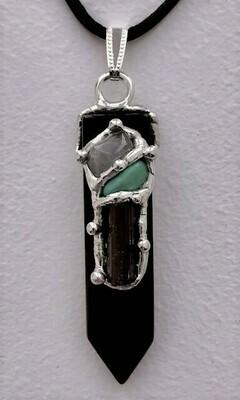 Keep Me Safe Blade Pendant Necklace