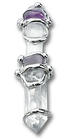 Inspiration Baby Gemstone Wand Pendant Necklace