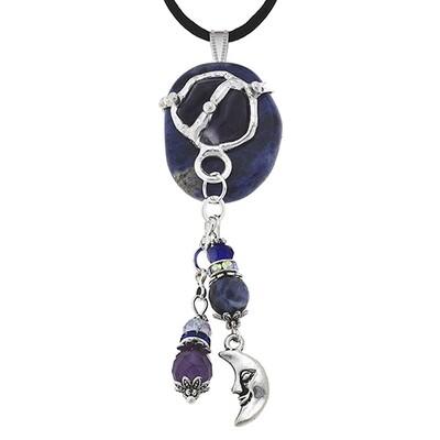 Psychic Gemstone Mandala Pendant Necklace