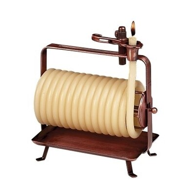 48 Hour Beeswax Coil Horizontal Candle