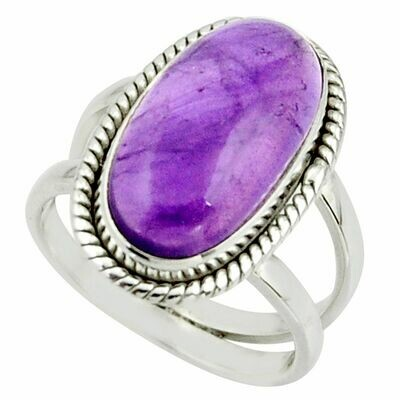 Natural Amethyst Oval Solitaire Ring
