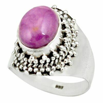 Natural Purple Phosphosiderite Sterling Ring 7