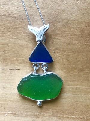 Sea Glass Vanishing Natural Pendant Necklace