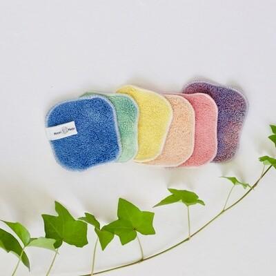 Organic Herbal Gem Rainbow Face Cloth