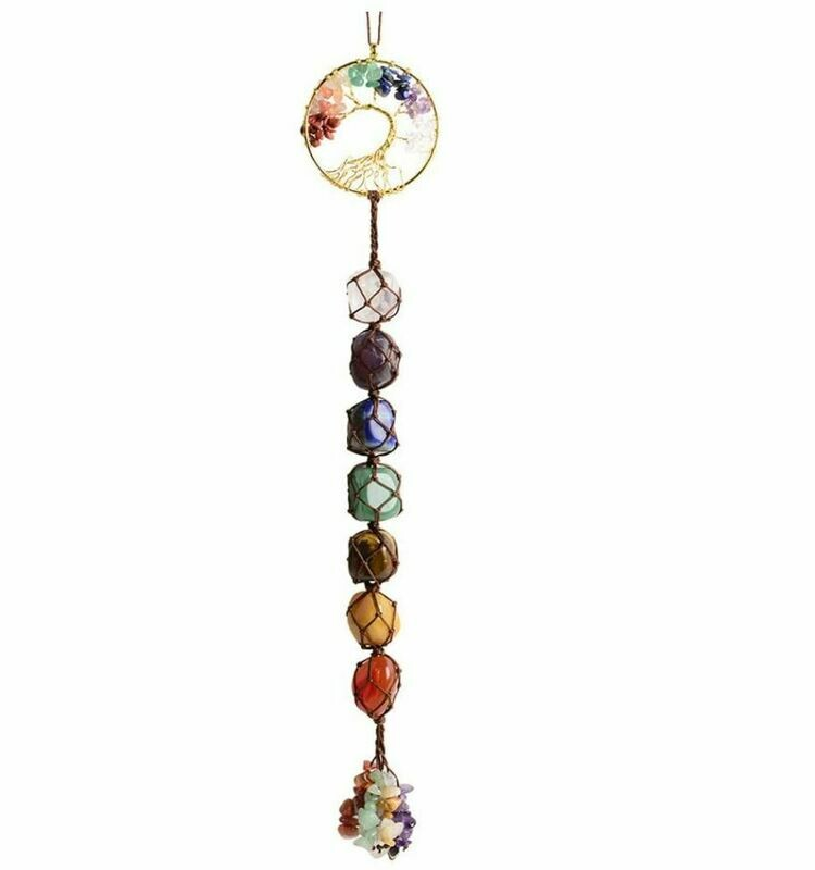7 Chakra Stone Tree of Life Wall Hanging