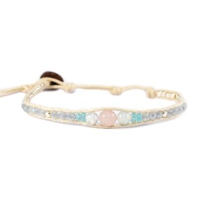 Night Blooming Rose Moonstone Bracelet