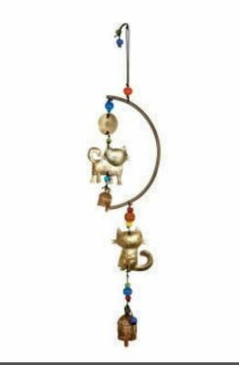 For Cat Lovers Beads and Nana Bells Wind Chime