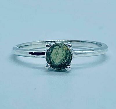 Rough Moldavite Ring
