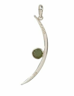 Moldavite La Luna Pendant Necklace