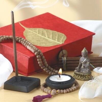 Gold Bodhi Meditation Offering Box