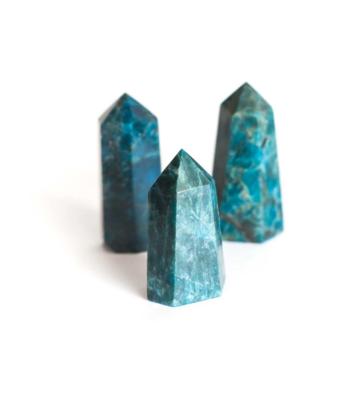 Blue Apatite Polished Points 2 3/4