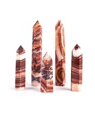 Banded Red Calcite Polished Point 3