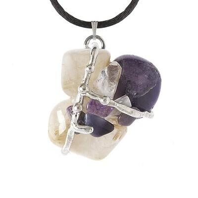 Kwan Yin Amulet Pendant Necklace