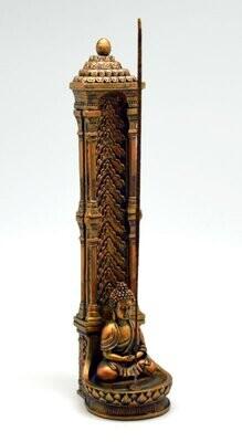 Copper Buddha Standing Incense Burner