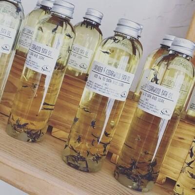 Amethyst Crystal Lavender & Cedar Bath and Body Oil