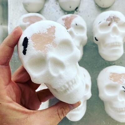 Alter Ego Skull Bath Bomb with Rose Quartz
