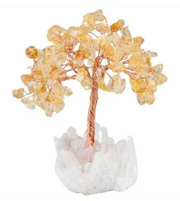 Natural Citrine Bonsai Gemstone Tree