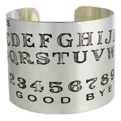 Silver Spirit Board Cuff Bracelet