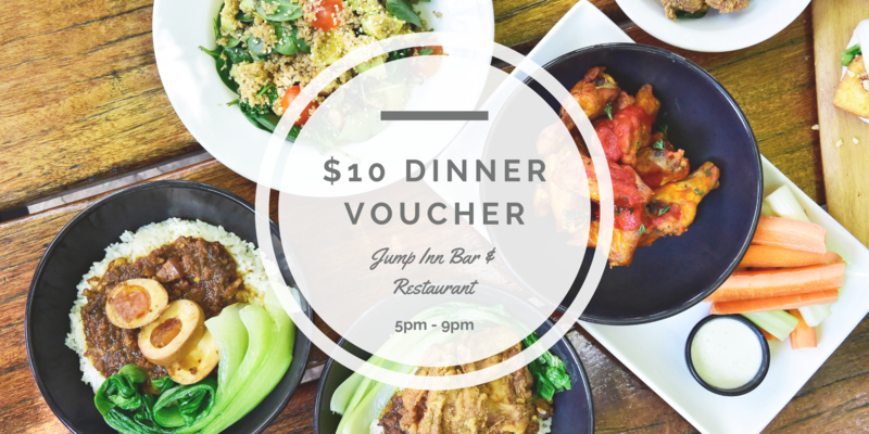 $10 Dinner voucher at Jump Inn