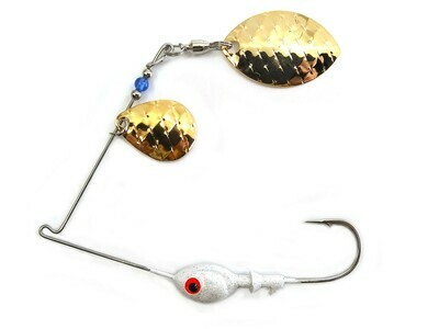 Spinnerbait Colorado Gold Scale/Wide Willow Gold Scale Blades