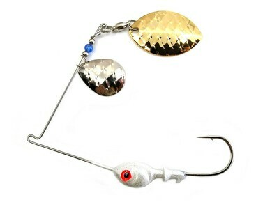 Spinnerbait Colorado Nickel Scale/Wide Willow Gold Scale Blades