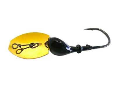 Vibrating Bladed Jig Black/Blue Flake Head Gold Blade
