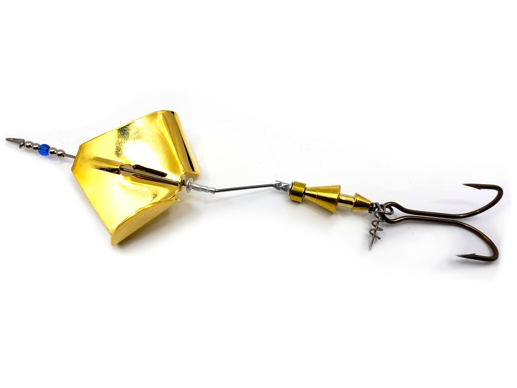 Inline Buzzbait - Plated Gold Blade