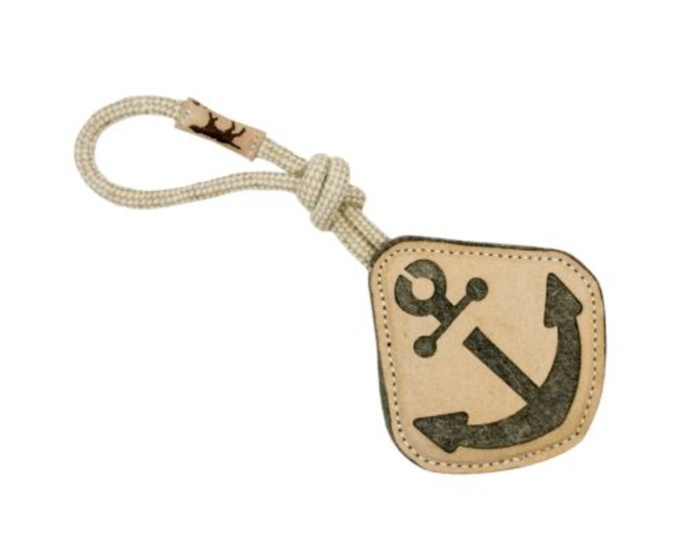 Anchor - Natural Leather Toy