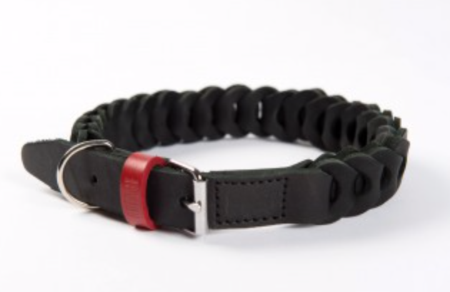 Genuine Leather Braid Collar