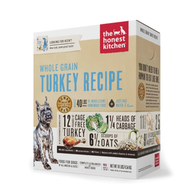 Honest Kitchen Turkey Recipe Whole Grain