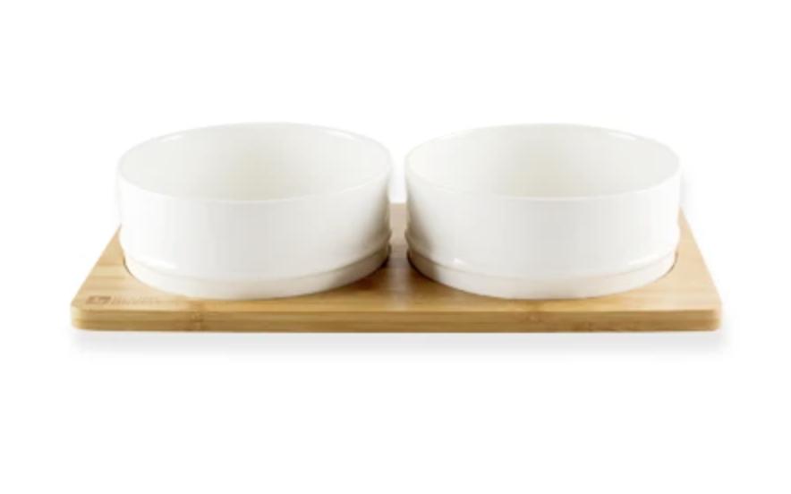 Bamboo & Ceramic Bowl